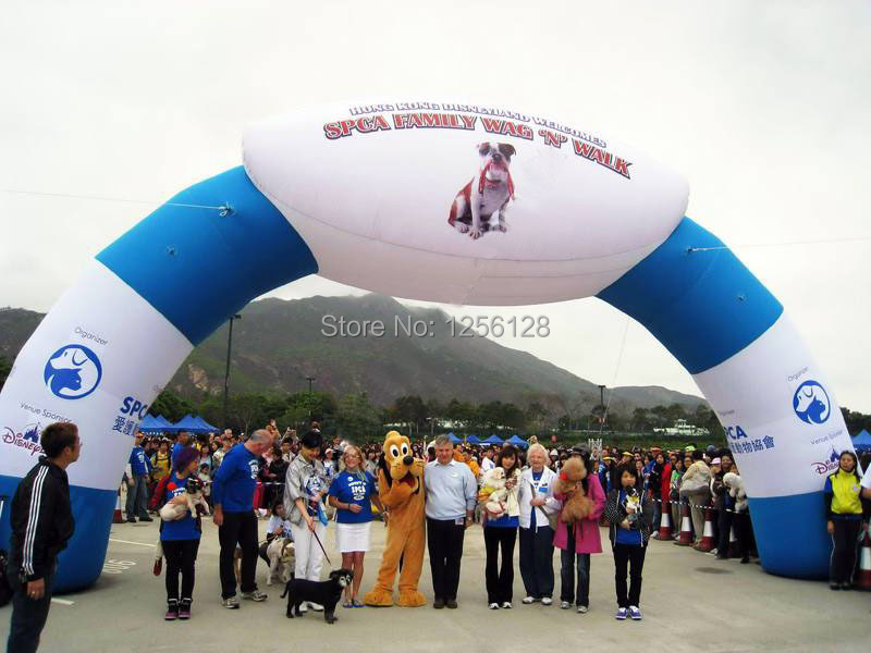 White And Blue Wholesales <font><b>Inflatable</b></font> <font><b>Billboard</b></font> Archways,logo/text on top For events image