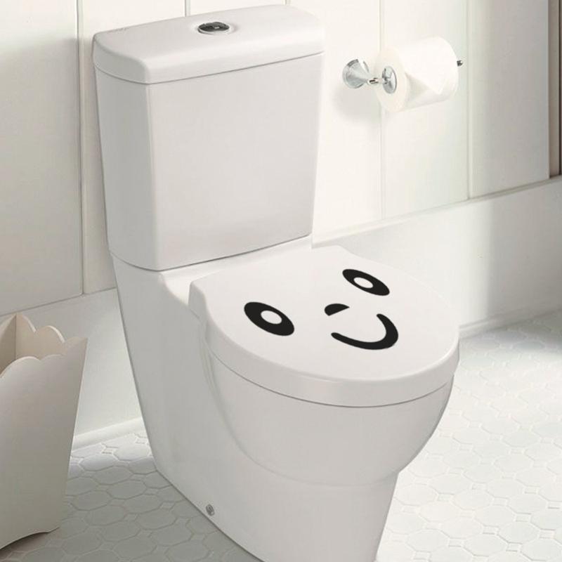 5 Stücke Lächeln Cartoon Gesicht Aufkleber Auf Der Toilette Badezimmer  Dekoration Wasserdichte Wandtattoos Zitate WC Aufkleber
