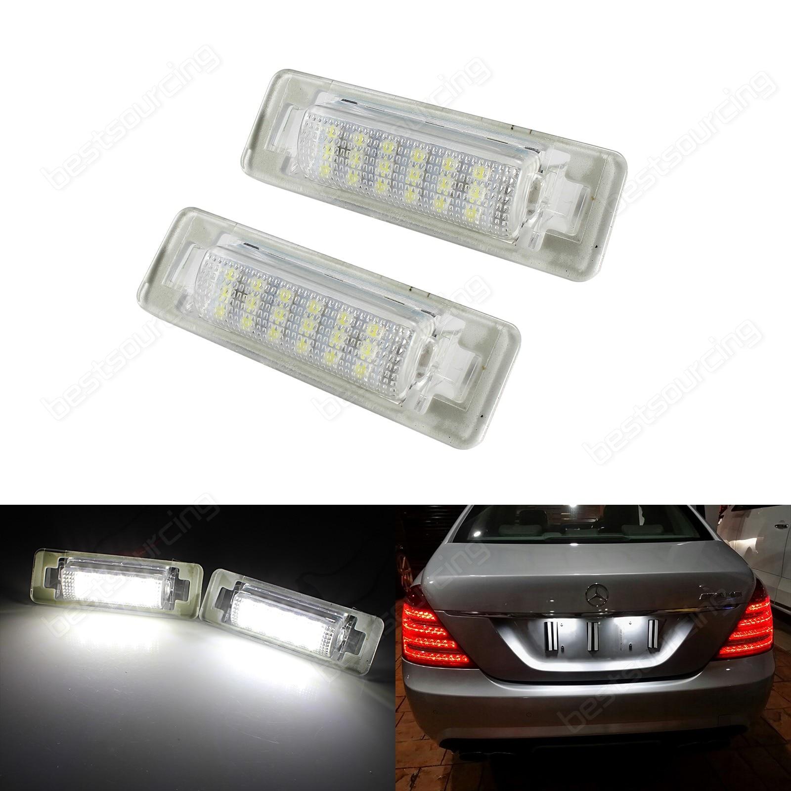 Acheter ANGRONG 2X18 SMD LED Nombre de Plaque D'immatriculation Canbus Pour Mercedes W202 C180 C200D C220 C220D de Signal Lampe fiable fournisseurs