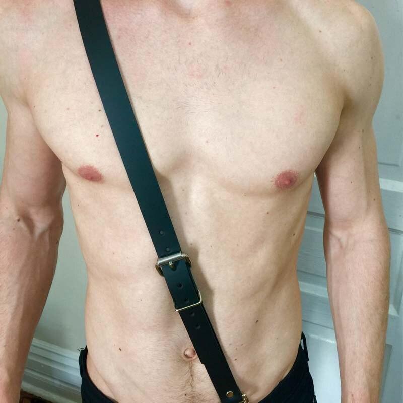 Leather Harness Belt Men Designer Belts Punk Adjustable Sexy Garter New Fashion Nightclub