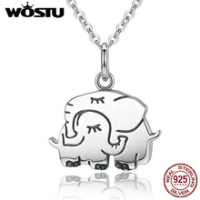 2017 New Arrival Real Authentic 925 Sterling Silver Warm Elephant Mother's Day Gift Pendent&Necklace For Women Jewelry