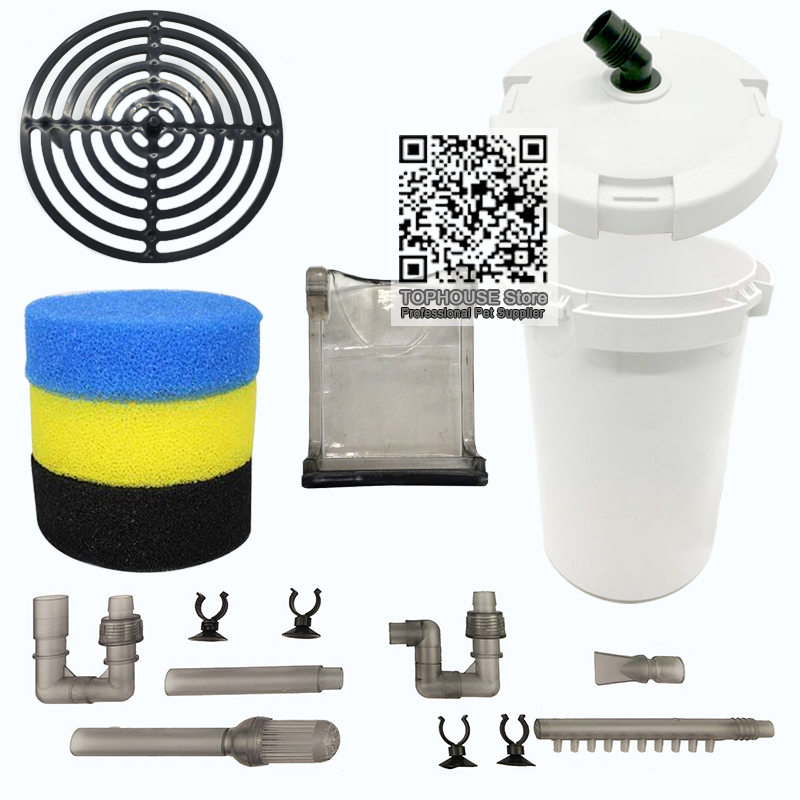 SUNSUN HW-602B/HW-603B Parts Aquarium External Canister Filter Replacement Accessories replace Barrel body Bucket cover image