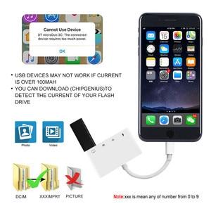 Image 5 - Doca 4 em 1 para iphone xr xs 8 7 plus, ipad ipod sd tf leitor de cartão porta usb relâmpago para hubs da câmera do teclado usb
