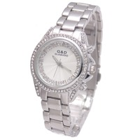 2017 Luxury G D Women Watches Quartz Wristwatch Silver Lady S Dress Watches Stainless Steel Bracelet