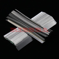 100pcs Lot 0 15mm X 7mm X 100mm Quality Low Resistance 99 96 Pure Nickel Strip