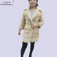 Linhaoshengyue Advanced mink fur coat woman