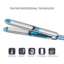 Professional Straightening Iron Intelligent Flat Irons Hair Curler Styling Tool Tourmaline Ceramic optima 3000 Hair Straightener kemei 2209 professional hair flat iron curler hair straightener irons 110v 220v eu plug tourmaline ceramic coating styling tools