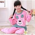 kids pajamas Sets Hot Warm Girls Boys pyjamas Kids Cartoon Printed Soft Full Sleeve Girls sleepwear Flannel kids pajamas