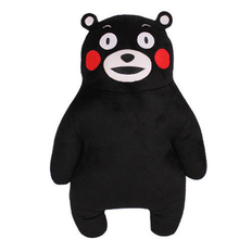 50CM Anime Japan Mascot Kumamon Bear Plush Pillow Adorable Doll 2Styles Cartoon Black Bear Soft Stuffed Animal Toys For Children