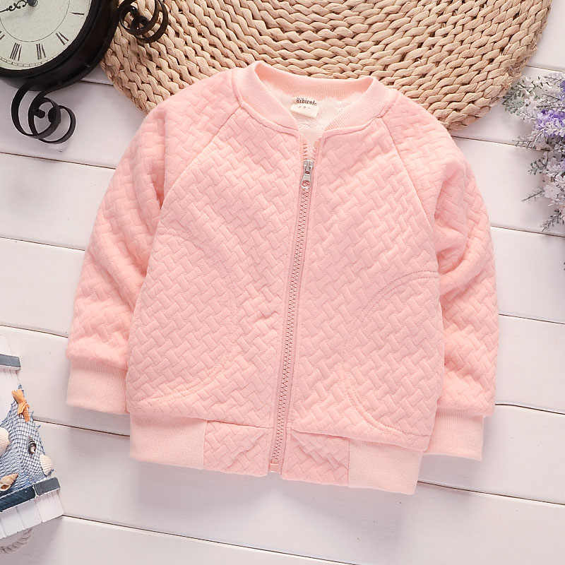 BibiCola girls autumn winter coats Jackets kids boys casual thick parkas Infant children cardigan plus velvet outerwear Jackets