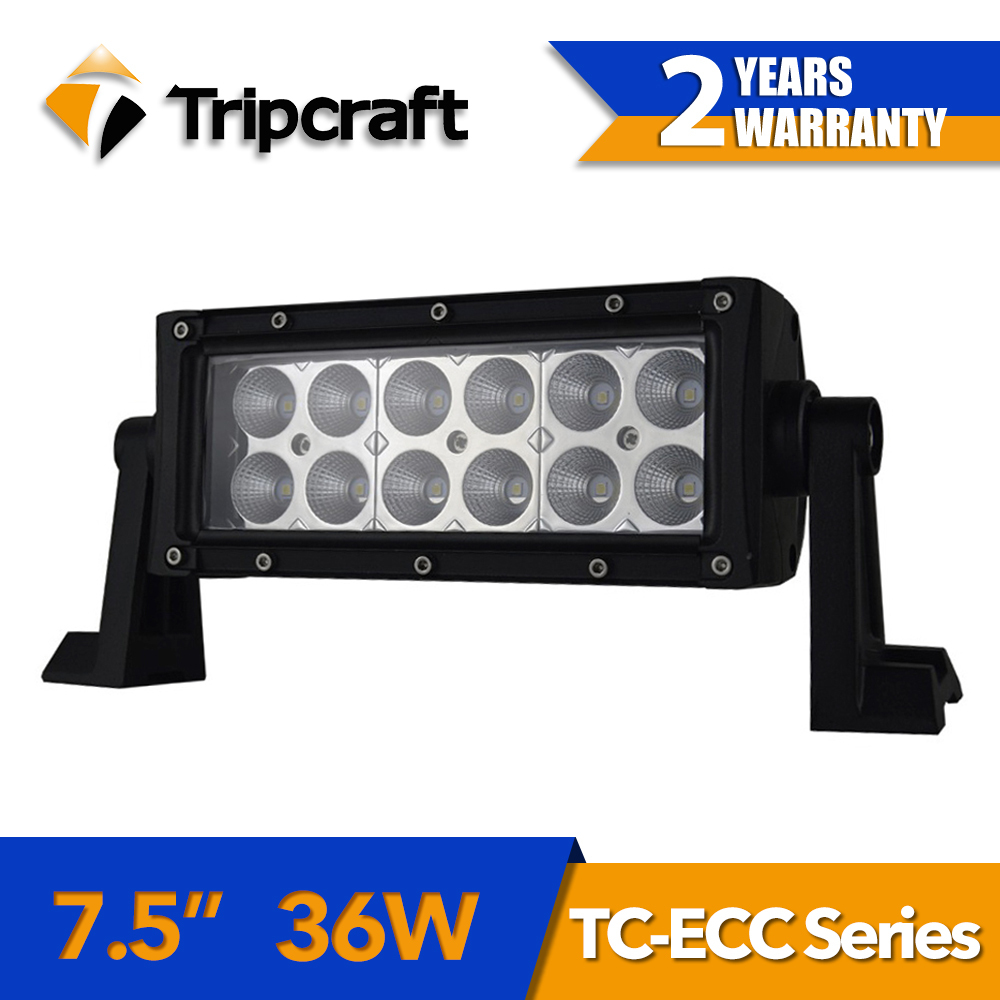 36W led car RAMP LAMP 7.5Inch Led Light Bar for Offroad Boat Car Tractor Truck 4x4 SUV ATV with high low beam function 12V 24V g126y 2pcs red led light 25 31mm spst 4pin on off boat rocker switch 16a 250v 20a 125v car dashboard home high quality cheaper