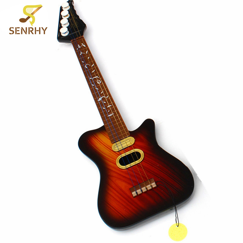 SENRHY Hot Sale 4 String Acoustic Guitar Education Development Simulation Toy For Baby Children Guitar Parts Musical Instruments rocket hot sale dual hot rail single coil humbucker pickup 4 wire for electric guitar excellent guitar parts