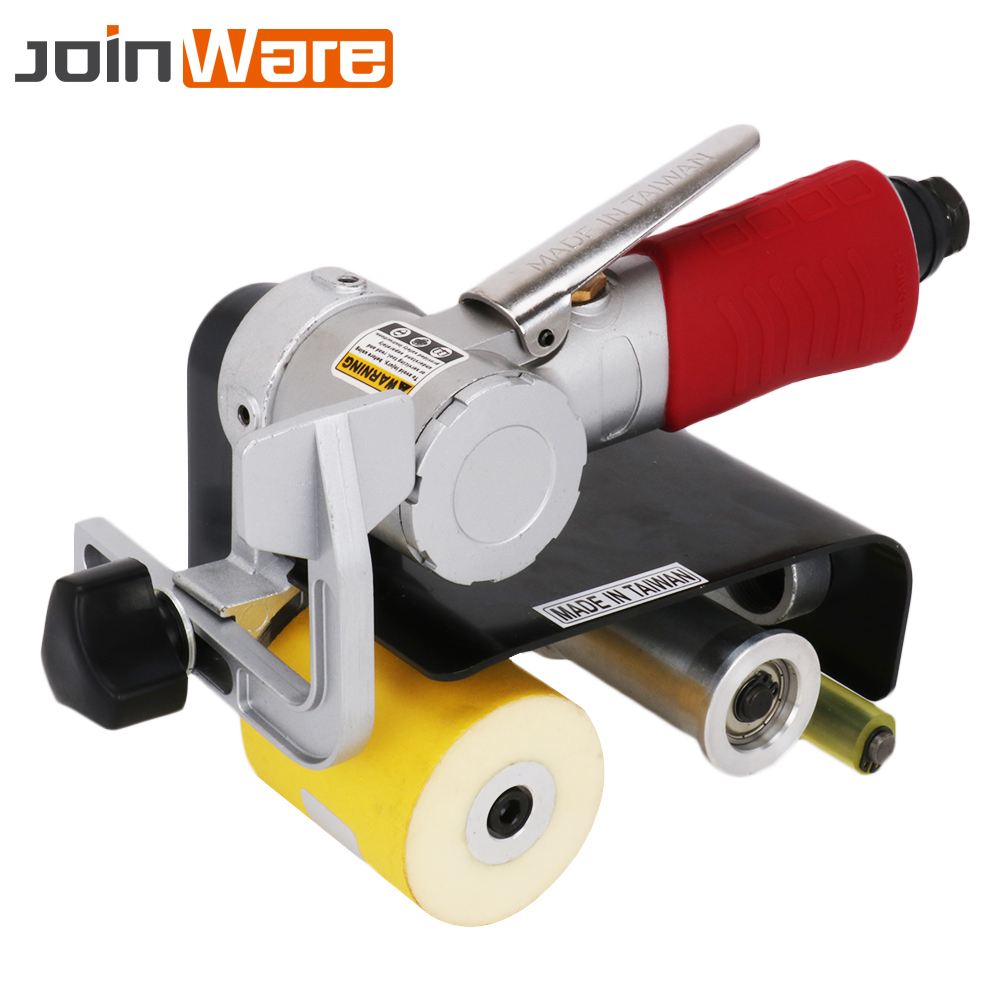 Belt Sander Pneumatic Air Belt Sander Machine Polishing Grinding for Metal Wood Working Rust Removal Deburring Multifunctional