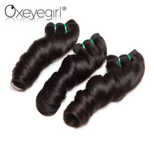 Oxeye girl Loose Wave Brazilian Virgin Hair ParisWave Bundles Natural Black Human Hair Weaving 10″-28″ Free Shipping 1 Pc