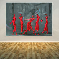 Hand painted Canvas Oil Painting Abstract Modern Wall Picture Painting Chinese Contemporary Art Lady Party #876