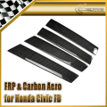 Car-styling For Honda Civic FB 2012 (4 Door) Carbon Fiber B-Pillar Cover
