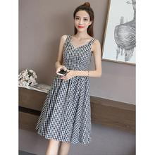 2019 New Yfashion Women Summer Elegant Charming V-neck Sling Casual Dress vestidos Top Quality