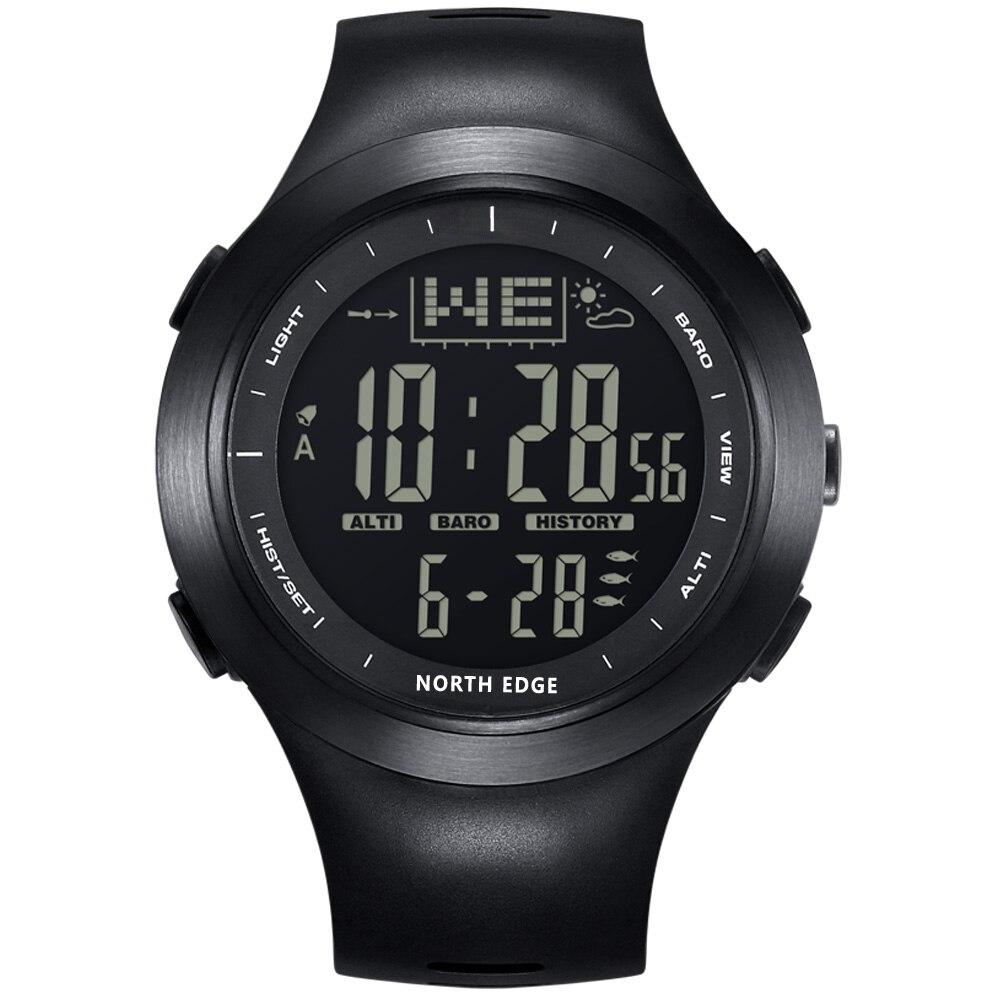 Digital Watches Northedge Outdoor Fishing Watch Led Digital Clocks 100M Waterproof Wristwatches Men's Led Fishing Smart Watch