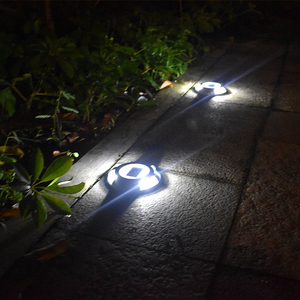 Image 5 - Solar Road Stud Lighting Aluminum 4 LED Outdoor Road Driveway Dock Path Ground Light Lamp Warm White And White Light