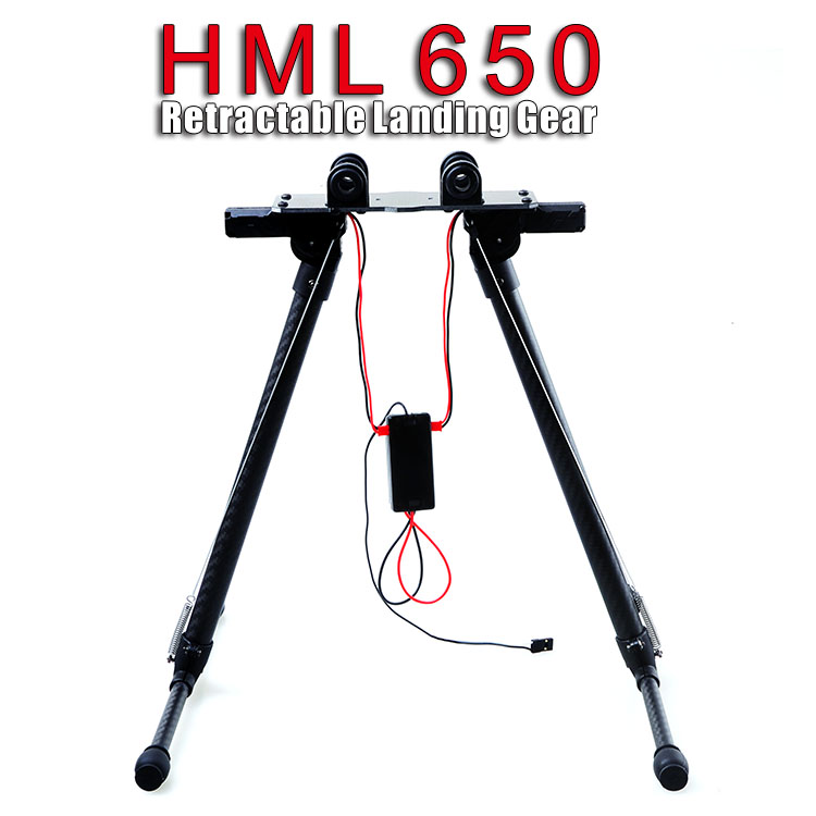 F09270 HML 650 Carbon Quick Install Retractable Folding Landing Gear Skid Tripod DIY Tarot 650 680PRO HMF S550 FPV Drone FPV tarot retractable landing gear foldable skid tarot 650 680pro quadcopter landing gear quadrocopter frame kit rc diy drone kit