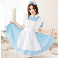 Alice In Wonderland Party Cosplay Costume Anime Sissy Maid Uniform Sweet Lolita Dress Adult Halloween Costumes