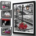Diamant Stickerei Blumen Muster Diamant Malerei Bilder von Strass Diamant Mosaik Kreuz Stich Rose