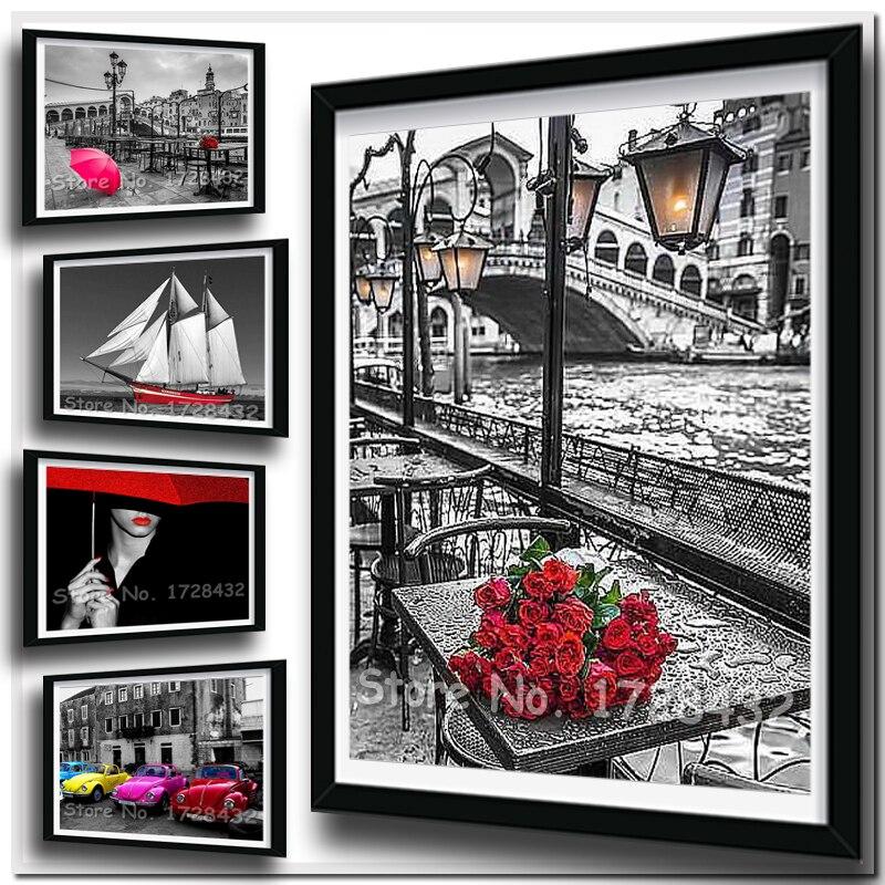 Diamond Embroidery Flowers Pattern Diamond Painting Pictures Of Rhinestones Diamond Mosaic Cross Stitch Rose #1