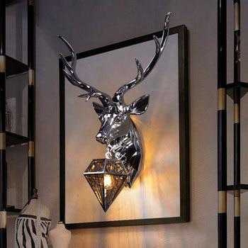 Modern Antler LED Wall Lamp Resin Wall Lamps Deer Lights Bedroom Buckhorn Kitchen Hanging Lamp Home Decor Soconces Wall Sconce