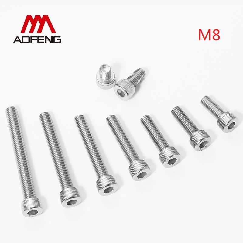 M8 X 30 Acero Inoxidable Cabeza Hexagonal Tornillos Arandelas Y Tuercas 4 Pack