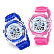 Luksusowe zegarki damskie wielofunkcyjny elektroniczny zegarek na rękę panie sukienki Luminous wodoodporne zegarki sportowe dla kobiet tanie tanio coobos 3Bar Akrylowe Klamra Cyfrowy Okrągły 14mm Nie pakiet CB0919 20mm 37 5mm Silikon Hardlex 20cm Stoper Podświetlenie