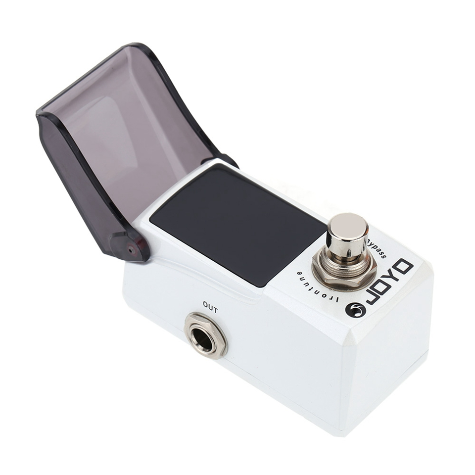 JOYO Irontune Pedal Tuner Electric Bass Guitar Effect Pedal with Knob Guard True Bypass JF-326 joyo jf 16 bypass design brithish sound guitar effect amplifier simulator pedal purple