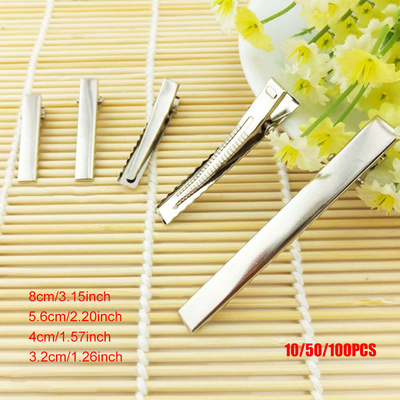 10/50/100Pcs/Set Women Hair Clips DIY Crocodile Bobby Pin Alligator Hairpin Barrette Lady Girl Hairs Styling Accessories Hot Mdf
