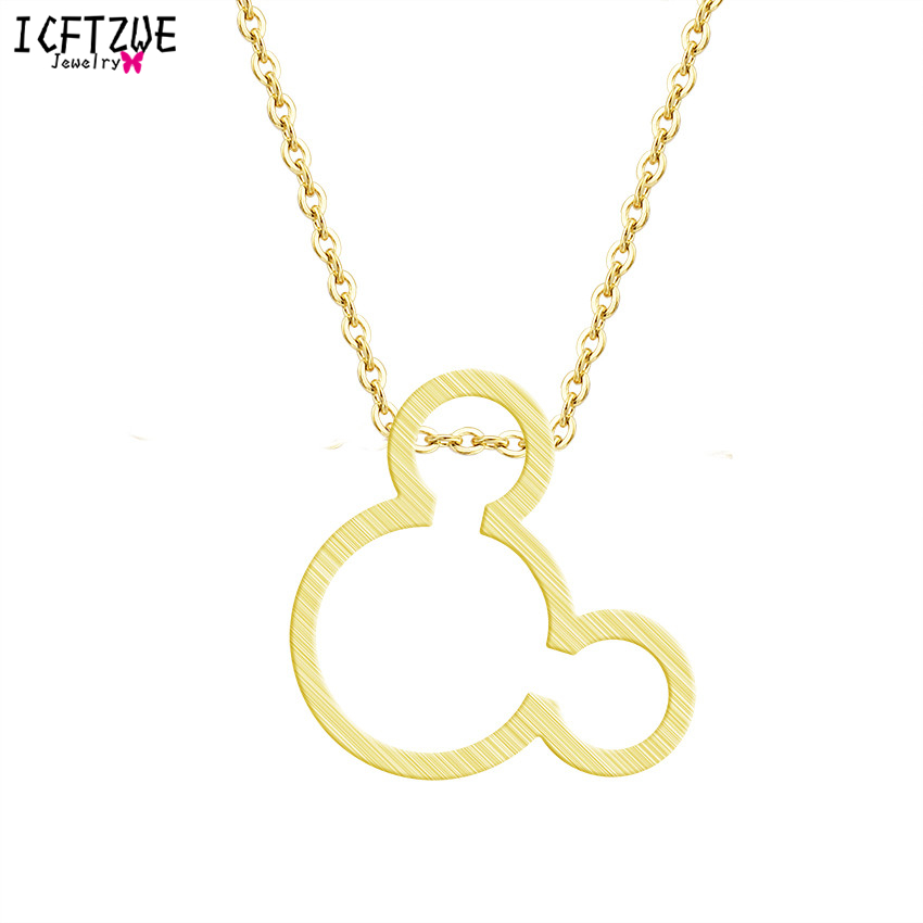 Ketting Vrouwen Mouse Necklace Women Gold Colour Chain Bijoux Femme - Fashion Jewelry