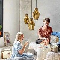 Nordic подвесные светильники прикроватная тумбочка для спальни art светодио дный лампа датский бар Освещение для обеденной Современный Творче