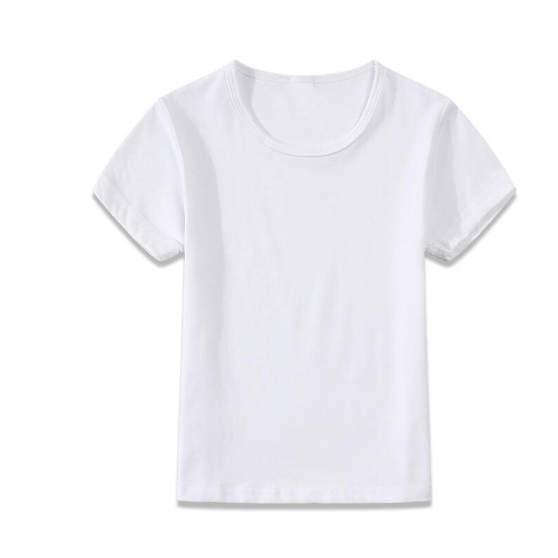Children Blank T Shirts Unisex Plain Shirts Kids Solid