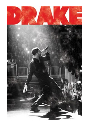 Drake Singing Custom Best Nice Stylish Classical Home Decor Fashionable Mondern Poster Size (50x76cm) Wall Sticker Free Shipping image