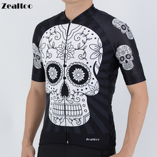 White skull sublimation printing cycling jersey 2019 Summer Ropa Ciclismo Cycling Clothing Men Shirt Hombre Maillot