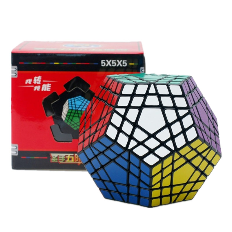 5x5 Megaminx cube Gigaminx Magic Cube Puzzle Black and White Sticker 5x5 Speed Cube Game Learning