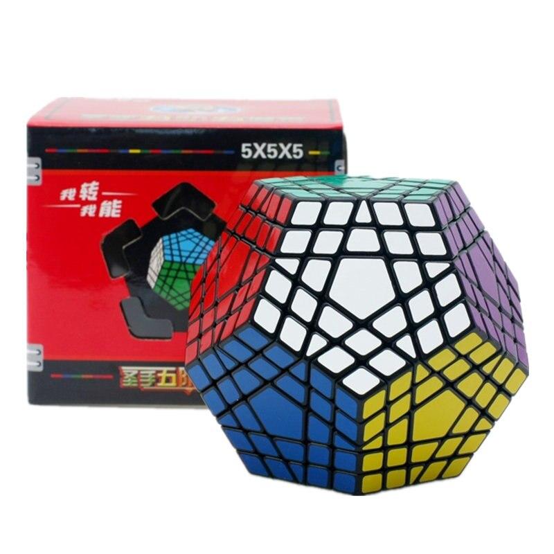 5x5 Gigaminx Cube Gigaminx Cube magique Puzzle noir et blanc autocollant 5x5 vitesse Cube jeu apprentissage & éducatif Cubo magico jouets
