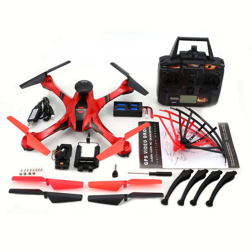 FX176C1 2.4G 4.5CH 2.0MP Camera HD Remote Control Helicopter Brushed Quadcopter With GPS Video Flight Trace RC DroneFX176C1 2.4G 4.5CH 2.0MP Camera HD Remote Control Helicopter Brushed Quadcopter With GPS Video Flight Trace RC Drone