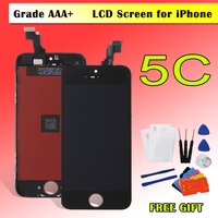 AAA LCD For IPhone 5C LCD Display Touch Screen Digitizer Module Replacement Camera Ring Sensor Holder