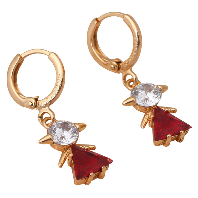 Rose Crystal Delicate Crystal earrings Gold tone Wholesale Retail