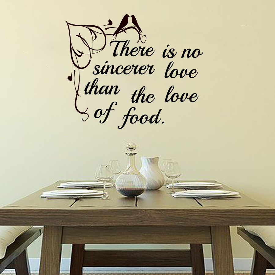 online shop there is no sincerer love than the love of food wall ... - Wall Stickers Cucina