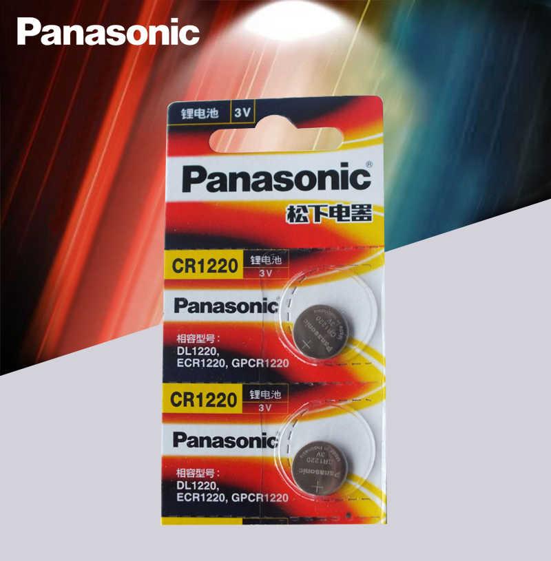 2 chiếc Hàng Chính Hãng Panasonic CR1220 Tế Bào Nút Pin CR 1220 3V Lithium Đồng Xu Pin BR1220 DL1220 ECR1220 LM1220
