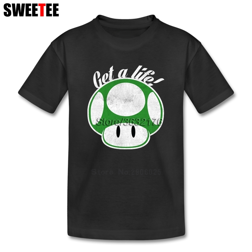 Get A life! childrens T Shirt Pure Cotton Short Sleeve O Neck Tshirt Costume Boys Girls 2018 Custom Made T-shirt For Baby