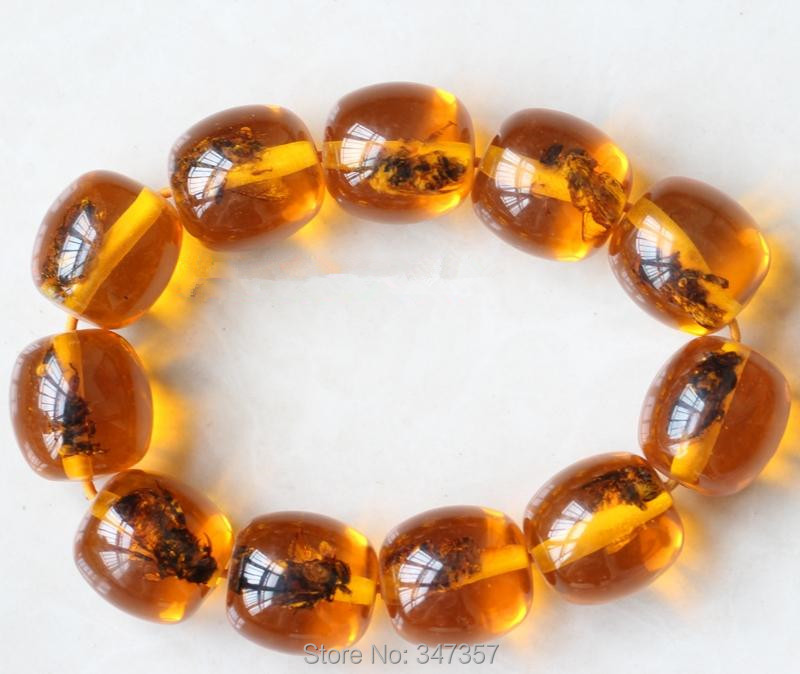 New Arrival Vogue Popular Big size Amber Bangle with Bees Men and Women s Jewelry for