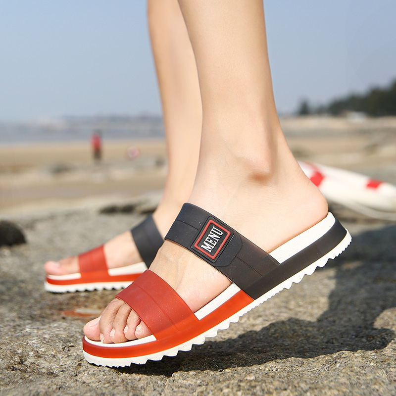 LAISUMK Summer Beach Men Slippers Casual Shoes Double Buckle Man Slip on Flip Flops Flats Camouflage Flip Flop Indoor & Outdoor 108