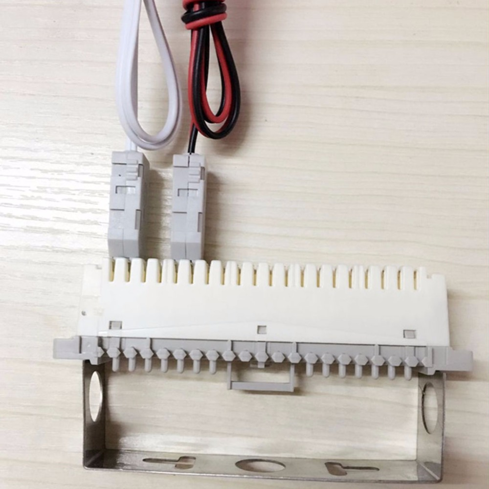 Rack Stainless Steel 150 Pairs Telephone Patch Panel Krone Voice Grade Jack Wiring Standard 110 Head Alligator Clip Rj11 Module Test Cord Lead For Telecom