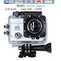 Ultra HD Action Camera Camcorder 4 K 14MP WI-FI 1080 P 2.0 polegada Lente de 170 Graus ir 30 M À Prova D' Água pro Ação Cam