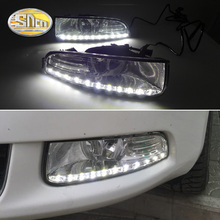 For Skoda Superb 2010 - 2013,Super Brightness Waterproof ABS Car DRL 12V LED Daytime Running Light With Fog Lamp Cover SNCN sncn led fog lamp for ford fiesta 2009 2016 with daytime running lights drl 12v high brightness